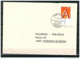 MARCOPHILIE SCHWEIZ (3996 BINN 07.09.1995) FLAMME TAL DER MINERALIEN MINERALS