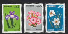 French Andorre. 1974 Andorran Flowers Y=234-6 E=255-7 Sc=223,5,7