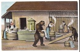 Künstler-AK Gehri: Wäschetag Mit Bären, BERN Matte ~1910 - Ours