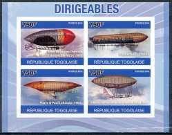 D- Republique Togolaise - ND/imperf - Alberto Santos-Dumont - Zeppelin - Pierre & Paul Lebaudy - Alberto Santos Dumo