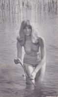 Arcade Card Woman In Bikini In Water - Old Paper