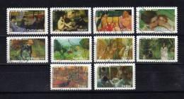 France Timbres De 2006  N°3866 A 3875  Serie Des Peintres Oblitérés - France