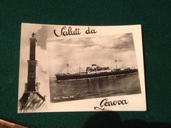 Cartolina Saluti Da Genova  Lanterna Motonave  Marco Polo Non Viaggiata