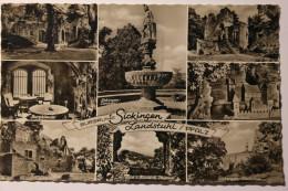 CPSM Petit Format Multivues Burgruine Sickingen Landstuhl Pfalz - LEB04 - Landstuhl