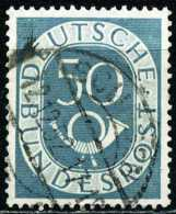 BRD - Mi 134 ⨀ (B) - 50Pf Posthorn - Used Stamps