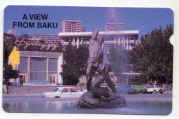 AZERBAIJAN Ref MV Cards AZE-MA-4 300U Magnétique Vu De BAKU - Azerbeidzjan