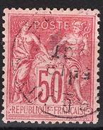 FRANCE 1877 / 90 - Y.T. N° 98 - OBLITERE - FD54