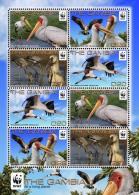 (WWF-478) W.W.F. Gambia Yellow-billed Stork Bird / Birds MNH Perf Sheetlet 2011 - W.W.F.