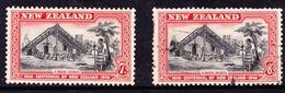 NEW ZEALAND 1940 CENTENNIAL 7d & 8d MAORI COUNCIL SG 622/3 Fine Used - 1907-1947 Dominion
