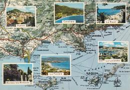 83-----(d'après Carte MICHELIN )--Multi-vues----voir 2 Scans - France