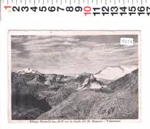 5256 RIFUGIO MARTINELLI SFONDO MONTE DISGRAZIA VALMALENCO  1952 - Sondrio