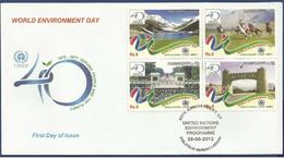 PAKISTAN 2012 MNH FDC  40TH ANNIVERSARY UNITED NATIONS UN ENVIRONMENT PROGRAMME WORLD UNEP ECONOMY LAKES HORSE SPORT