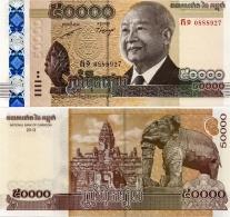 CAMBODIA   50,000 Riels    P-61a   2013 (2014)  UNC    [50000] - Cambodia