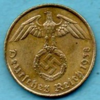 R7/ GERMANY  3° REICH   5  REICHS PFENNIG  1938 A - [ 4] 1933-1945 : Troisième Reich
