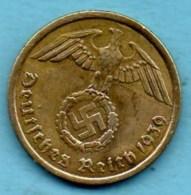 R7/ GERMANY  3° REICH   10  REICHS PFENNIG  1939 A