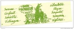 Ancienne Etiquette  Bière  La Bière Du Bonheur  De Fischer  Schiltigheim Alsace  Sureau Cerfeuil Sarriette Estragon Cibo - Bière