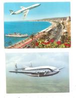 Caravelle-et Breguet-Nice- 2 Cartes Postales(B.4997) - 1946-....: Moderne