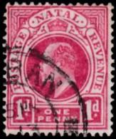 NATAL - Scott #102 King Edward VII 'Wmk. 3' (*) / Used Stamp - Afrique Du Sud (...-1961)