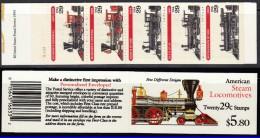 BOOKLETS USA Trains Railway MNH** - Treni