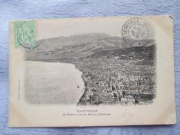 MARTINIQUE .  SAINT PIERRE VUE DU MORNE D ORANGE  1905  CARTE TAXE - Cartes Postales