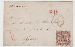 Bad280 /  Badenbrief Mit Michel Nr, 20 C, 1868, Von Freiburg Nach Lyon, Brief Ist In Einwandfreier Erhaltung - Baden