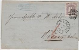 HH015 / Michel Nr. 12 A , Gut Gezähnt Und Zentriert, Nach Dänemark Jan. 1865