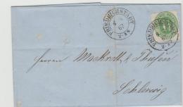 Sch010 / SCHLESWIG-HOLSTEIN -  Michel Nr. 9, Friedrichstadt 1867 Nach Schleswig - Schleswig-Holstein