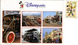 DISNEYLAND Paris  Main Street  USA  Nice Stamp Tour Eiffel - Disneyland