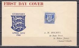 Besetzung II.WK Kanalinsel Guernsey MiNo. 3 Auf Ersttagsbrief (MiSp Ohne Bewertung) - Besetzungen 1938-45