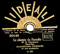 78 T. -  20 Cm - état Tb -  VAISSADE Accordéon - Le Chemin Du Paradis - COUCOU - 78 T - Disques Pour Gramophone