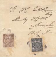 Nr 77 En 81 Op Briefstukje Naar Nairobi (07681) - Zanzibar (...-1963)