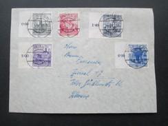 Österreich 1962 Bauwerke Mischfrankatur Marken Vom Linken Seitentrand! Wien - Zürich - 1945-.... 2. Republik