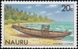 NAURU - Scott #228 Ancient Canoe / Mint NH Stamp - Nauru
