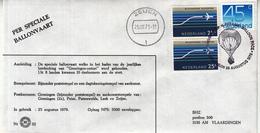 """Nederland - 25-8- 1979 - Speciale Ballonvaart """"Groningen Ontzet"""" - BHZ 32 - Marcofilie - EMA (Print Machine)"""