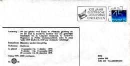 Nederlandf- 12-9- 1979 - 100 Jaar Electrische Verlichting - Eindhoven  - BHZ 36 - Marcofilie - EMA (Print Machine)