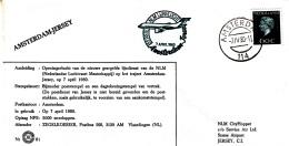 Nederland - 7 April 1980 - Eerste NLM Lijnvlucht Amsterdam-Jersey - Z 61 - Marcofilie - EMA (Print Machine)