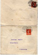 TB 2120 - LSC - 2 Lettre De Mr MATHIEU - FAIVRE Banquier à BEAUNE - Marcophilie (Lettres)
