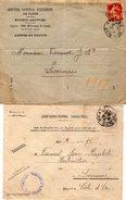 TB 2121 - LSC - 2 Lettres Comptoir D'Escompte & Contributions Directes à BEAUNE - Marcophilie (Lettres)