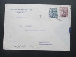Spanien - Schweiz 1940er Jahre Zensur Der Wehrmacht. Zensurbeleg. Geöffnet / Geprüft. Barcelona Censura - 1931-50 Briefe U. Dokumente