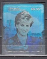 Grenada&Grenadines 1998,1V In Block,hologram On Folie,Lady Diana,MNH/Postfris(A2962) - Royalties, Royals