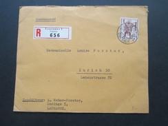 Schweiz 1942 Nr. 378 Einfachfrankatur Recommande R Lausanne 1 Urgents 656. Mit Siegel C.F Bally S.A. Lausanne - Suisse
