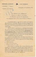 3 Sept 1941 - ETAT FRANÇAIS - Convocation Pour Les CHANTIERS DE LA JEUNESSE - Appel Au Stage - - Documenti Storici