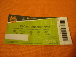 Panathinaikos-Anadolu Efes Euroleague Basketball Ticket Stub 12/02/2016 - Biglietti D'ingresso
