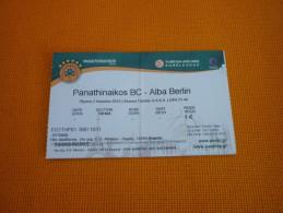 Panathinaikos-Alba Berlin Euroleague Basketball Ticket Stub 02/04/2015 - Biglietti D'ingresso