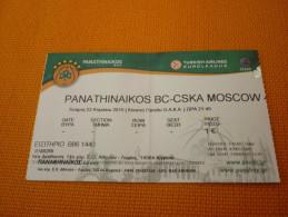 Panathinaikos-CSKA Moscow Euroleague Basketball Ticket Stub 22/04/2015 - Biglietti D'ingresso