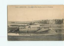 CHERBOURG : Panorama De La Place Napoléon, Vue Prise De Chantereine. 2 Scans. Edition F C - Cherbourg