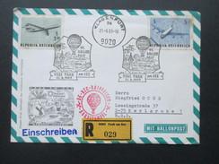 Österreich 1969 Ballonpost Faak Am See. DE DZC Raiffeisen Bordstempel. 41. Ballonpost - Ballonpost