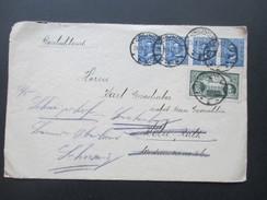 Polen 1933 Chojnice Nach Köln Weitergeleitet In Die Schweiz. Waagerechter 4er Streifen! - Briefe U. Dokumente