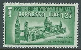 1944 RSI ESPRESSO DUOMO DI PALERMO 1,25 LIRE MNH ** - CZ39-4 - 4. 1944-45 Repubblica Sociale