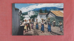 Guatemala Pan American  Women Carrying Water Home In Large Jugs====    ===== Ref 2375 - Guatemala